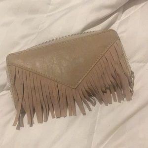 Handbags - Tan fringe wallet